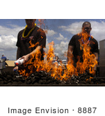 #8887 Picture Of Sailors Using Lighter Fluid