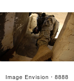 #8888 Picture Of A Soldier Climbing Down A Guard Tower