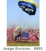 #8893 Picture Of A Parachute With American Flag