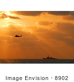 #8902 Picture Of A Helicopter And Aircraft Carrier