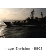 #8903 Picture Of An Aircraft Carrier And Helicopter