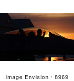 #8969 Picture Of A F-16 Fighting Falcon Fighter Pilot