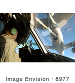 #8977 Picture Of Refueling A C-17 Globemaster Iii