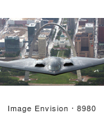 #8980 Picture Of A B-2 Stealth Bomber And St Louis