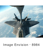 #8984 Picture Of A Kc-135 Stratotanker Fueling An F-22 Rapter