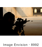 #8992 Picture Of A Man In Shooting Range