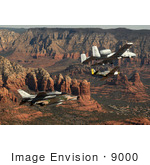 #9000 Picture Of Military Aircraft Over Sedona Az