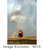 #9010 Picture Of A Conrolled Detonation Balad Air Base Iraq