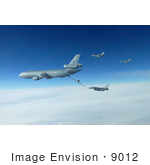 #9012 Picture Of F-16 Fighting Falcons And Kc-10 Extender