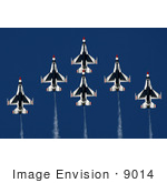 #9014 Picture Of The Air Force Thunderbirds