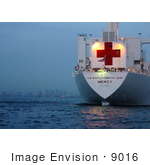 #9016 Picture Of The Usns Mercy Hospital Ship