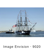 #9020 Picture Of The Uss Constitution Ship