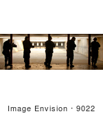 #9022 Picture Of Practicing At A Shooting Range