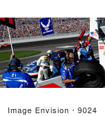 #9024 Picture Of A Pit Stop At Las Vegas Motor Speedway