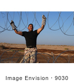 #9030 Picture Of Installing Barbed Wire