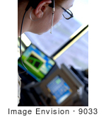 #9033 Picture Of An Air Traffic Control Worker