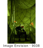 #9038 Picture Of A Man Watching A Moving Satellite