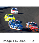 #9051 Picture Of A Race At The Las Vegas Motor Speedway