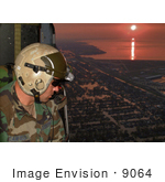 #9064 Picture Of A Pararescueman Looking For Survivors After Hurricane Katrina