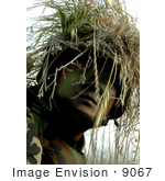 #9067 Picture Of A Soldier In Full Camouflage