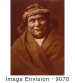 #9070 Picture Of An Acoma Indian Man Wearing Headband