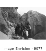#9077 Picture Of Acoma Indians With Pottery