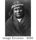 #9080 Picture Of An Acoma Indian Man Wearing Headband