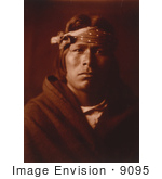 #9095 Picture of an Acoma Native American Indian Man by JVPD