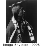 #9098 Picture of a Jicarilla Indian Man by JVPD