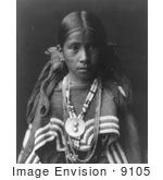 #9105 Picture of a Jicarilla Apache Indian Girl by JVPD