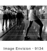 #9134 Picture of a Tap Dance Class in 1942 by JVPD