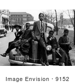 #9152 Image Of African American Boys On A Car