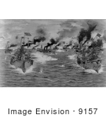 #9157 Picture of The 1898 Battle of Manila Bay by JVPD