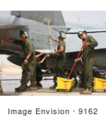 #9162 Picture Of People Washing Military Aircraft