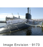 #9173 Picture Of A Submarine Commissioning Ceremony