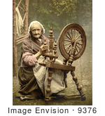 #9376 Picture Of A Woman Using A Spinning Wheel