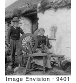 #9401 Picture of a Couple With a Spinning Wheel by JVPD