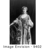 #9402 Picture Of Emma Eames With A Spinning Wheel