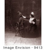 #9413 Picture Of A Woman Using A Spinning Wheel