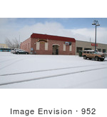 #952 Photo of the Shooters Ground Zero Club in Medford, Oregon with Snow by Kenny Adams