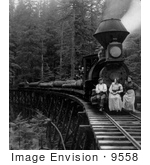 #9558 Picture Of People On A Logging Train