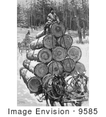 #9585 Picture Of Horses Hauling Logs