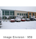 #959 Photography Of Snow Covered Parking Lot Infront Of The Jackson County Library