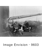 #9603 Picture Of A Trucking Logging In 1921