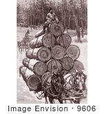 #9606 Picture Of Horses Hauling Logs