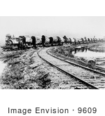 #9609 Picture Of Redwood Logs On A Train