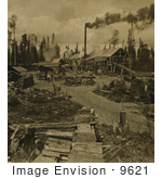 #9621 Picture Of A Lumber Camp In New Hampshire