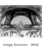 #9642 Picture Of Central Dome And Eiffel Tower