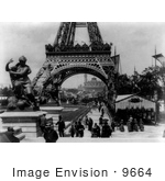 #9664 Picture Of Fountain Coutan Trocadero And Eiffel Tower