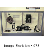 #973 Stock Photograph of Antique Telephones by Jamie Voetsch